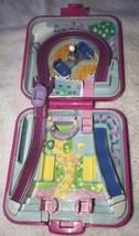 1989 Polly Pocket Vintage Polly World Fun Fair Bluebird Toys w/Car Pink Compact - $26.50