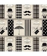 Ladies & Gentlemen Well Mannered Print Premium 100% Cotton Fabric by the... - $6.36