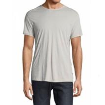 John Varvatos Star USA Men's Short Sleeve Pintuck Crew Tee Shirt Pearl G... - $944,34 MXN