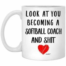 Funny Future Becoming Softball Coach Gifts Mug Coffee Mug 11oz 15oz - $14.06+