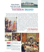 1962 CUNARD Lines Cruise Vacation Island print ad - $10.00