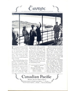 1927 Canadian Pacific Empress Liners Europe travel print ad - $10.00