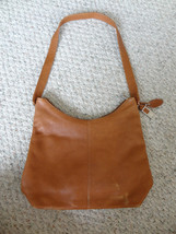 Rolfs Simple Cognac Russet Brown  Genuine Pebbled Leather Shoulder Style... - $40.00