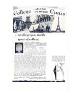 1928 University Travel Association college cruise print ad - $10.00