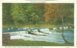 The Gem of the Ozarks, Mill Dam, Bennet Spring State Park, near Lebanon, MO - $7.99
