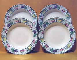 Oneida Distinction Garden Gate 4 Soup Bowls 1988 - $14.99