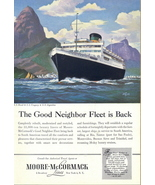 1948 Moore McCormack Lines Cruise Ship travel print ad - $10.00