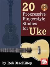 20 Progressive Fingerstyle Studies for Uke/Book/CD Set/TAB - $12.99