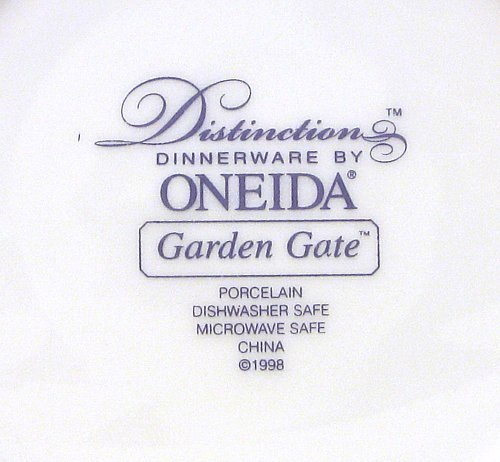 Oneida Distinction Garden Gate 4 Soup Bowls 1988