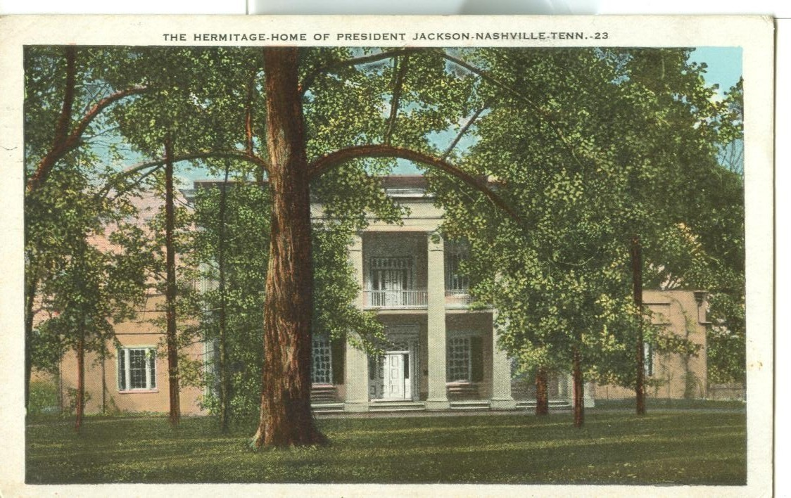 The Hermitage, Home of President Jackson, Nashville, Tennessee, used Postcard