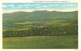 The Hog Back Mt, in the Green Mounts of Vermont, 1920s unused Postcard  - $5.99
