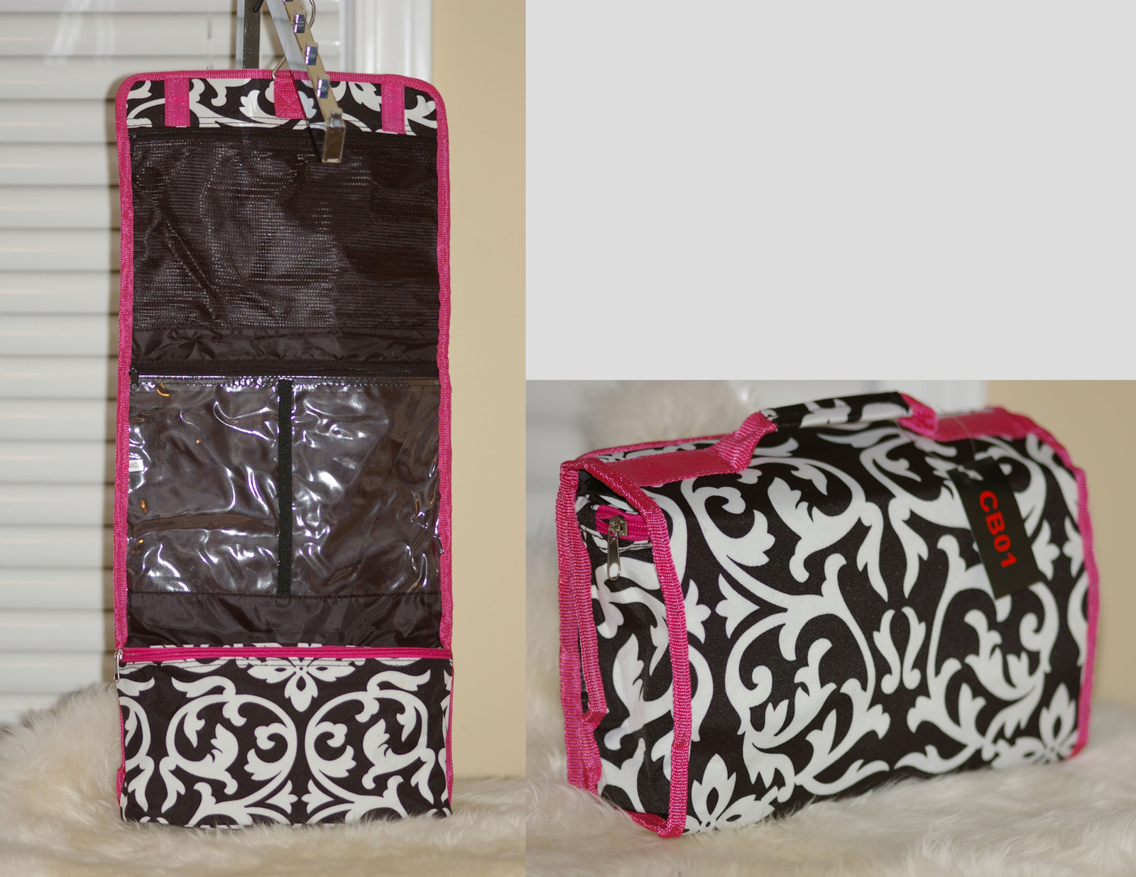 Cosmetic Train Case Travel Bag Roll Jewelry Pouch Smaller Size