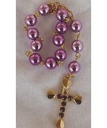 Mini purple rosary - $16.00