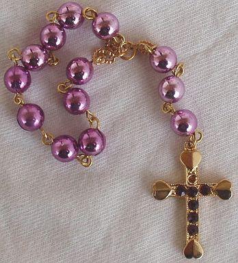 Mini purple rosary