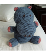 Handmade toy - Happy Hippo - crocheted original amigurumi design - $571,26 MXN
