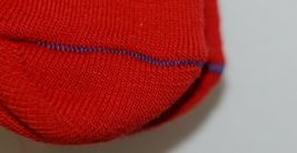 Unbranded Red White Adult Crew Socks Right Left Marked Bottom with R L image 3