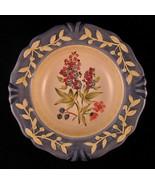 """Flora Blossoms Decorative Plate Porcelain 8 7/8"""" Pamela Gladding Made in... - $40.09"""
