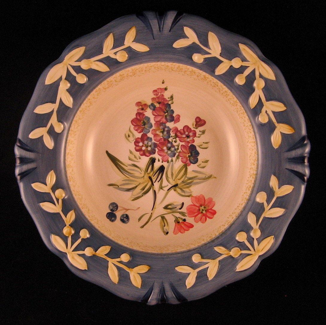 "Flora Blossom Decorative Plate Porcelain 8 7/8"" Pamela Gladding Made in China"