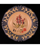 "Flora Blossom Decorative Plate Porcelain 8 7/8"" Pamela Gladding Made in ... - $44.54"