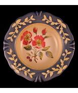 """Flora Dog Rose Decorative Plate Porcelain 8 7/8"""" Pamela Gladding Made in... - $40.09"""