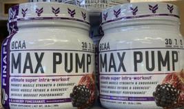 2X Finaflex BCAA Max Pump 30 srv Blackberry Pomegranate Intra-Workout Mi... - $28.04