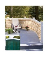 Privacy fence Netting For Pool Deck Fencing Intimate Home SOLID GREEN PR... - $19.65