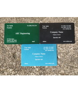 100 LASER ETCHED PERSONALIZED METAL BUSINESS CARDS - $365.00