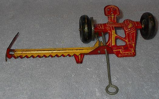 Marx Tin Litho Farm Toy Field Mower