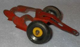 Old Vintage Marx Two Bottom Farm Toy Plow - $19.95