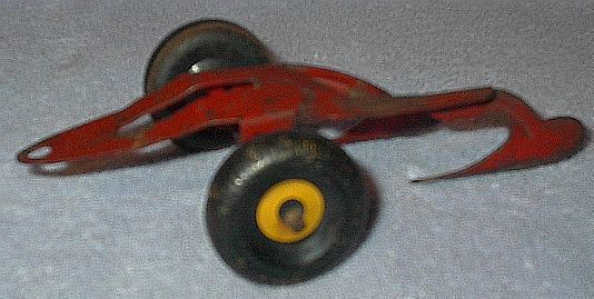 Old Vintage Marx Two Bottom Farm Toy Plow