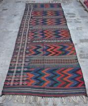 HR, 4' x 11' Vintage Afghan nomadic Kilim Tribal Turkish wool Antique Ru... - $468.90