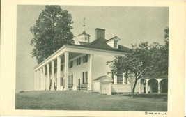 The Mount Vernon Mansion, East Front, 1938 unused Postcard  - $3.99