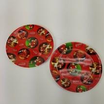 "Gibson 9"" Coca Cola Santa Claus Christmas Melamine Plates Set Of 2 Holiday - $15.88"