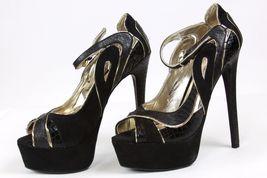 5 8 Black Heel Platform Clarissa bebe Size High Pump NIB v8z7Tq4w