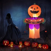 Fanshunlite Halloween 8Ft Airblown Inflatable Pumpkin Knight Smile Face ... - $65.33