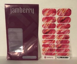 Jamberry Retired Valentines Day Nail Wraps Pink Shades Abstract Print Fu... - $9.89