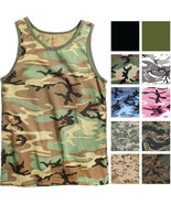 Camo Tank Top Sleeveless Muscle Tee Camouflage Tactical Army Military A ... - $10.99+