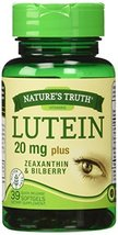 Nature's Truth, Lutein 20 mg Plus Zeaxanthin and Bilberry Capsules, 39 C... - $13.85