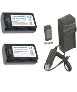 2 Batteries + Charger NP-FZ100 for Sony Alpha a7R III, A9, A9B, ILCE-7RM... - $80.95