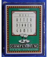 1998 More After Dinner Card Games Compendium Lagoon Games 539 - $5.99