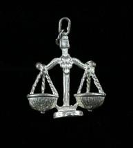 "Vintage .925 Sterling Silver 5.8g "" LIBRA "" Detailed Zodiac Symbol Sign ... - $14.78"