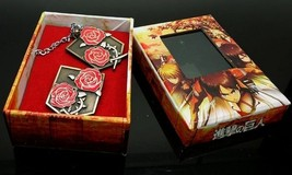 Attack on Titan Stationary Guard coppery Brooch and Necklace Cosplay Accessory - $9.49