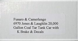 Funaro & Camerlengo HO kit  6970 Jones & Laughlin 20K Gal Coal Tar Tank Car silv image 3