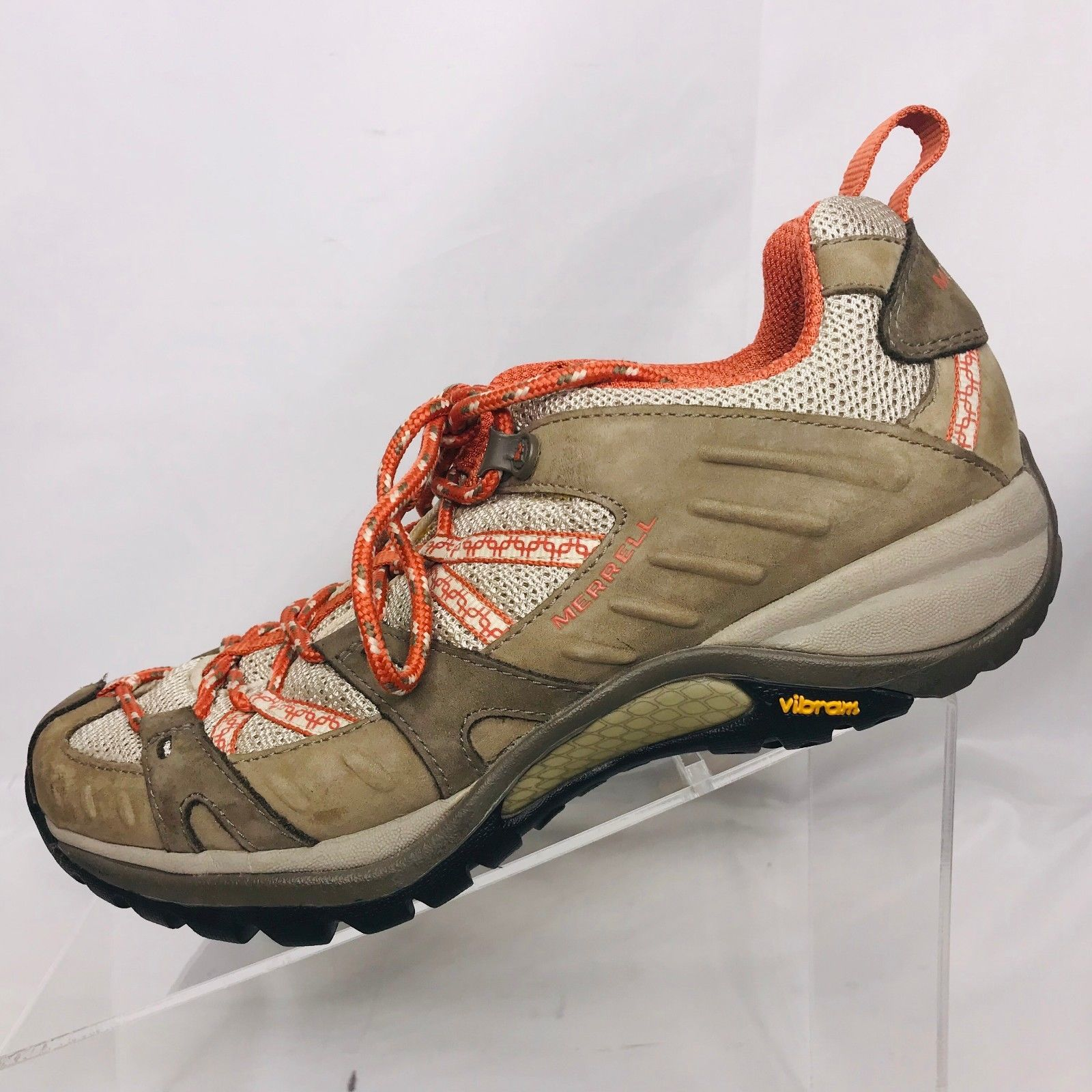 ca07919be347 57. 57. Previous. Merrell Siren Sport Womens Size 8 Vibram Sole Hiking  Trail Shoes Brindle Coral