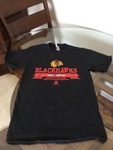 Chicago Blackhawks Black NHL T-Shirt Small Excellent Condition - $7.91