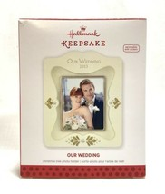 NEW 2013 Hallmark Photo Holder Christmas Ornament Our Wedding Picture Frame - $7.91