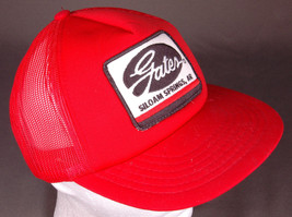 Vtg GATES Hat-Siloam Springs, AR-Snapback-Rubber-Red-Patch-Embroidered-M... - $28.04