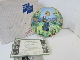RECO COLLECTOR PLATE A TIME TO PLANT 1989 MARCH OF DIMES  14006A COA BOX - $4.90