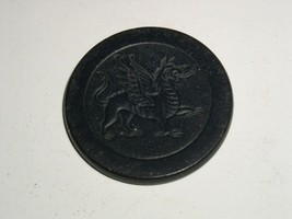 Vintage Poker Chip Dragon Early 1900's Clay or Clay Composite Bakelite? - $9.99