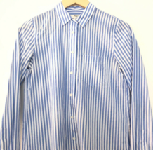Madewell XS Striped Button Down Collared Long Sleeve Shirt Blue White - $24.96